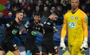 Alvaro Gonzalez a marqué lors de la victoire de l'OM contre Granville en 16e de finale de la Coupe de France, le 17 janvier 2020.