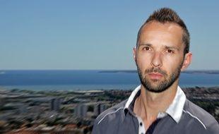 Le Niçois Julien Chauvel, 35 ans, vendredi sur les hauteurs de Nice