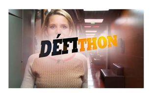 Capture d'écran d'une vidéo proposant un défi dans le cadre de l'opération Défithon du Téléthon.
