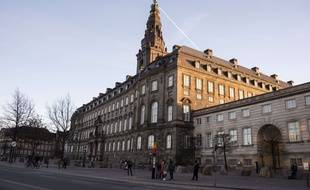 Le Folketing, parlement national du Danemark.