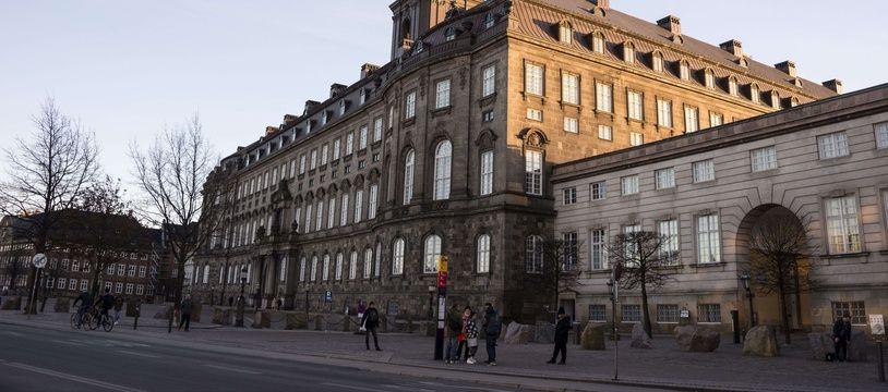 Le Folketing, parlement national du Danemark.