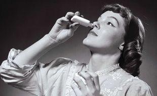 Illustration spray nasal