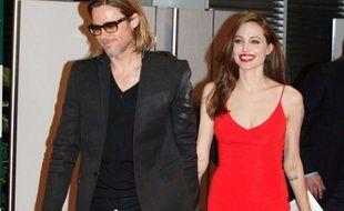 Brad Pitt et Angelina Jolie à Tokyo, Japon, le 9 novembre 2011