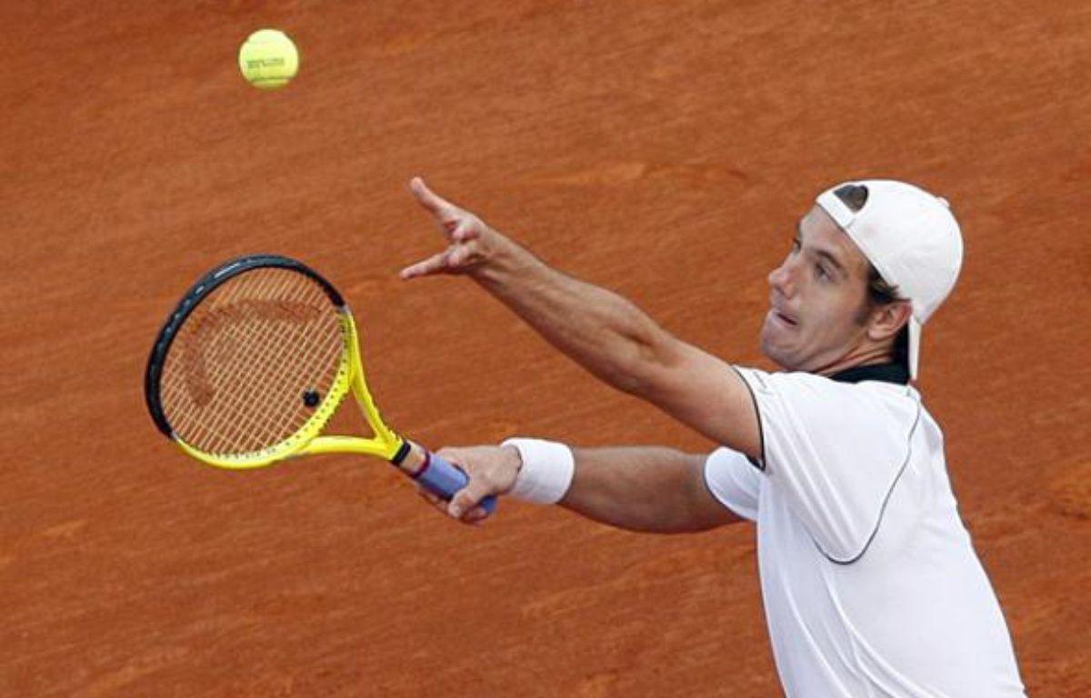 Le tennisman français Richard Gasquet, lors de son match face à Thomas Berdych, le 13 avril 2010 à Monte-Carlo. – R.Duvignau/REUTERS