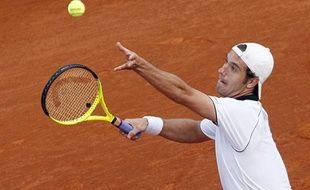 Le tennisman français Richard Gasquet, lors de son match face à Thomas Berdych, le 13 avril 2010 à Monte-Carlo.