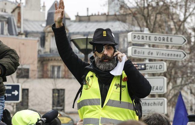 Jérôme Rodrigues lors de l'acte 12 des