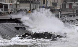 La tempête Ciara souffle sur Wimereux (Nord-Pas de Calais), le 9 février 2020.