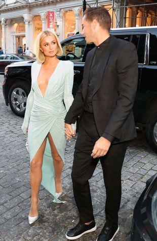 Paris Hilton à la New York Fashion Week le 11 septembre 2021.