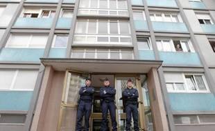 L'immeuble strasbourgeois où l'homme a été abattu ce samedi matin, 6 octobre 2012.