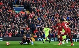 Divock Origi a ouvert le score pour Liverpool.