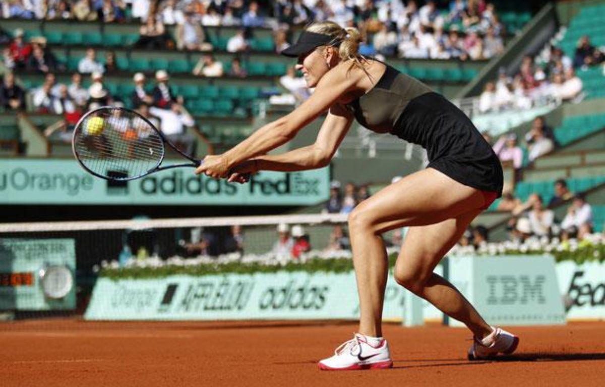 La joueuse russe Maria Sharapova, lors de son macth à Roland-Garros contre Petra Kvitova, le 7 juin 2012. – F.Lenoir/REUTERS