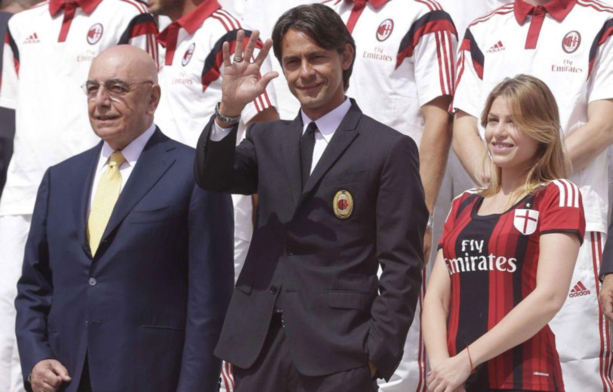 Pippo Inzaghi (au centre), et Barbara Berlusconi, à droite, en juillet 2014 –  Luca Bruno/AP/SIPA