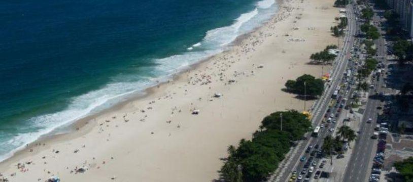 Vue générale de la plage de Copacabana, le 28 mars 2013 à Rio de Janeiro