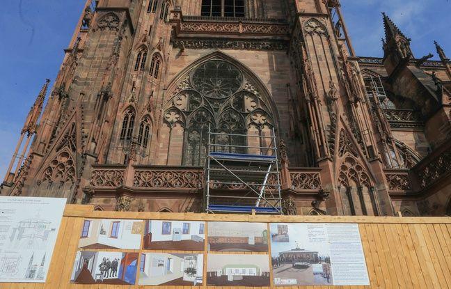 La cathédrale de Strasbourg est actuellement en travaux.