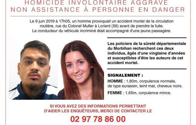 La police du Morbihan lance un appel à témoins pour retrouver l'automobiliste et sa passagère impliqués dans un accident mortel à Lorient.