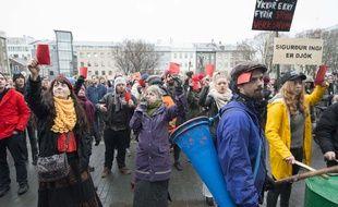 La manifestation à Reykjavik après les «Panama Papers», le 8 avril 2016