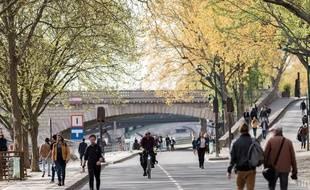 Les voies sur berges à Paris réservées aux piétons.