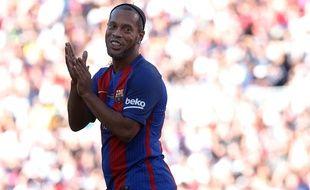 Ronaldinho lors d'un match de légendes