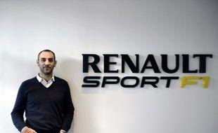 Le directeur général de Renault Sport F1, Cyril Abiteboul, le 18 décembre 2014 à Viry-Châtillon, en région parisienne