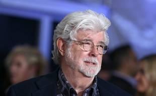 Le réalisateur George Lucas à la première hollywoodienne de Solo: A Star Wars Story