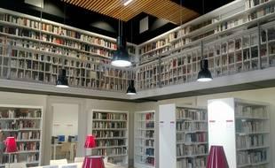 La toute nouvelle bibliothèque de recherche en histoire de l'Unistra. Strasbourg le 23 novembre 2016.