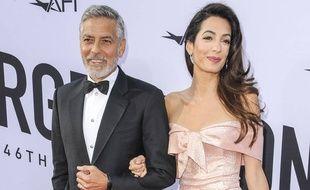 L'acteur George Clooney et son épouse, l'avocate Amal Clooney