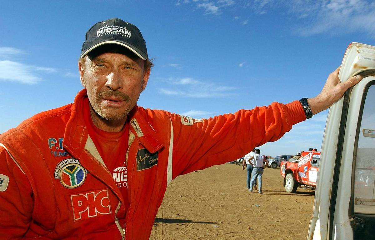 Johnny Halliday sur le Dakar en 2002. – AP/SIPA