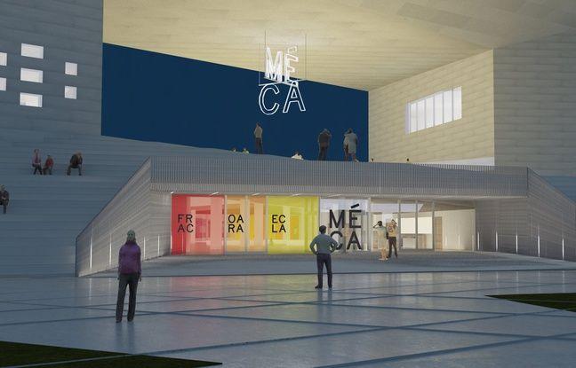 L'entrée principale de la MECA, Maison de l'économie créative et de la culture en Aquitaine