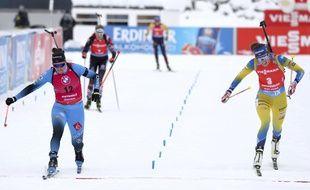 Julian Simon (à gauche) a gagné au sprint