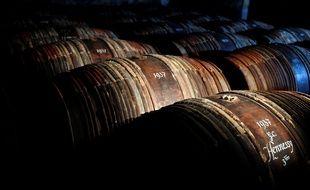 Des tonneaux de cognac Hennessy (image d'illustration).