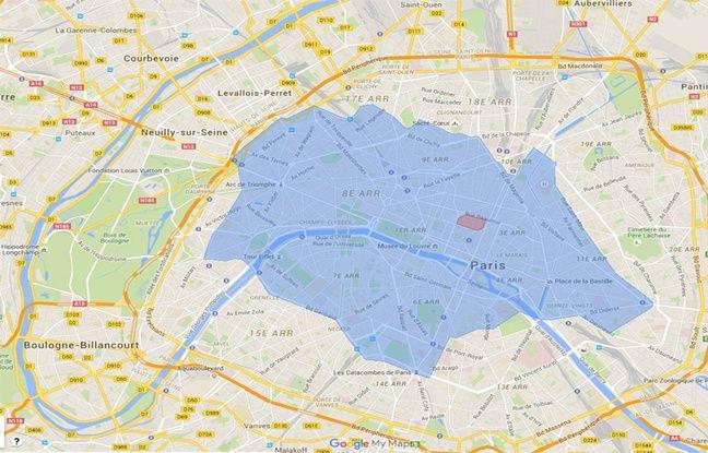 Dans un premier temps, les cityscoots devront être déposés dans une zone délimitée de Paris.