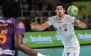 Le handballeur montpelliérain Nikola Karabatic, le 11 novembre 2012, à Sélestat.