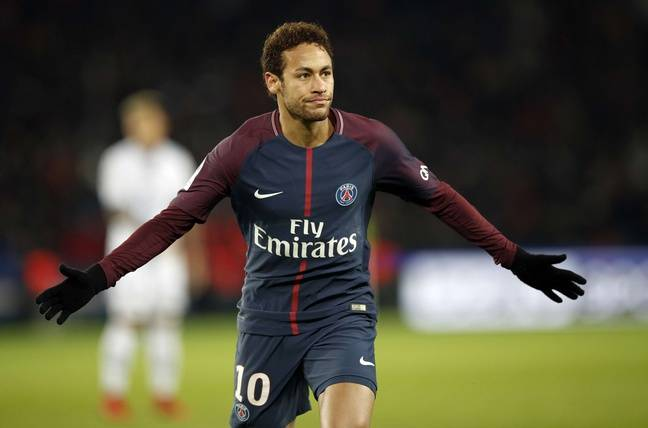 Neymar, lors de PSG-Troyes, le 29 novembre 2017.