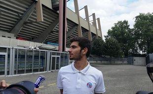 Jeune international des moins de 20 ans en bleu, Martin Terrier sera joueur du RCSA jusqu'en mai.