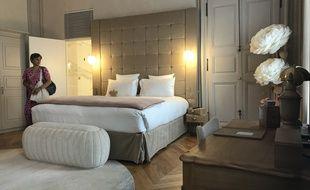 L'une des chambres de l'hôtel Richer de Belleval à Montpellier