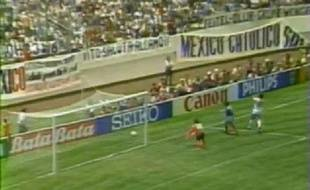 L'équipe de France contre l'équipe belge pendant la Coupe du monde de 1986 au Mexique. (Capture d'écran)