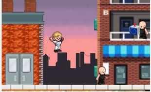 Dans le jeu vidéo mis en ligne par la liste PCF aux européennes, l'ouvrière Marie-Hélène Bourlard combat des fachos, des financiers, des patrons et des lobbyistes.