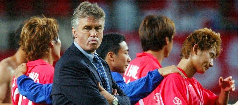 Guus Hiddink à la tête de la Corée du Sud, en 2002