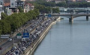 Les quais du Rhône à Lyon, le 29 juin 2018.