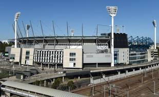 Le MCG de Melbourne, stade dans lequel un spectateur positif au Covid-19 a assisté à un match de football australien, dimanche.