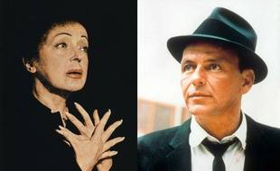 Edith Piaf et Frank Sinatra.