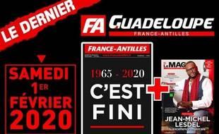 «C'est fini» titre l'ultime édition guadeloupéenne de «France-Antilles».