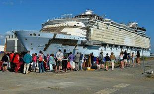 Le paquebot Harmony of the seas à Saint-Nazaire, le 29 juillet 2015
