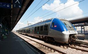Bordeaux, 19 mars 2012. - Rame de TER transport express regional en gare de Bordeaux Saint-Jean.- Photo : Sebastien Ortola