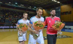 Valentin Porte, Jérôme Fernandez et Cyril Dumoulin avaient déjà été récompensés lors du match de D1 à Créteil, le 12 février 2015.