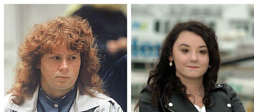 Lauréna Thellier (à dr., à La Rochelle en septembre 2019) incarnera Murielle Bolle (à g., en 1993) dans une série de TF1.