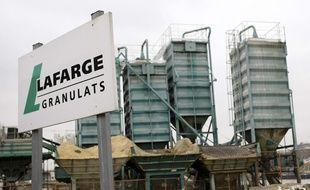 Une usine de Lafarge à Paris, le 18 février 2009.