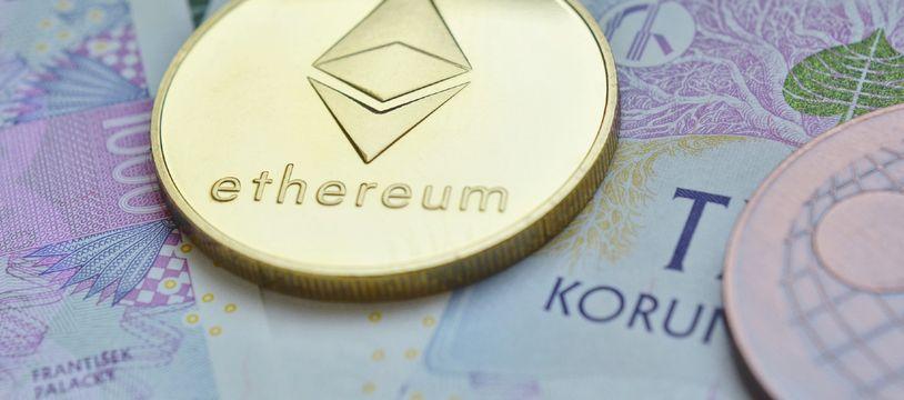 La cryptomonnaie Ethereum, dont la devise est l'ether. (illustration)