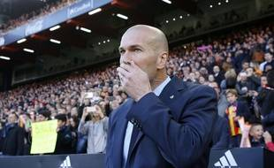 Zinedine Zidane «dégoûté» après le match nul entre Levante et le Real Madrid (2-2), le 3 février 2018.