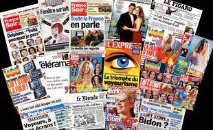 Des unes de journaux et magazine français consacrées à «Loft Story» en 2001.
